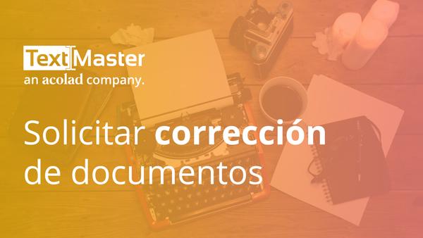 Solicitar corrección de documentos
