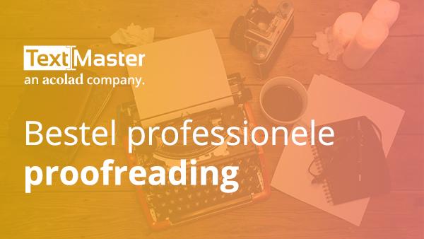 Professionele proofreading