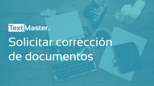 Solicitar correccion de documentos